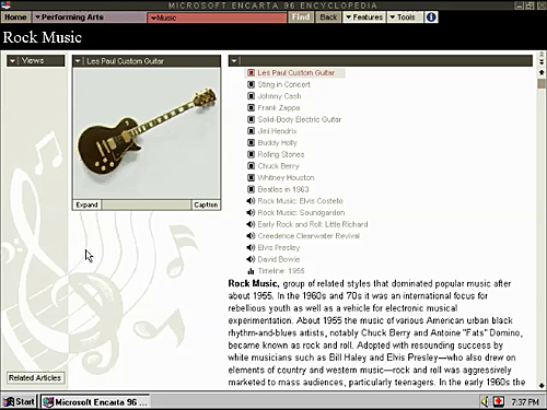 MS Home - Microsoft Encarta 96 | internet-tokens